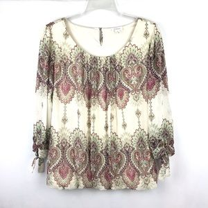 Westport 3/4 sleeve blouse size small